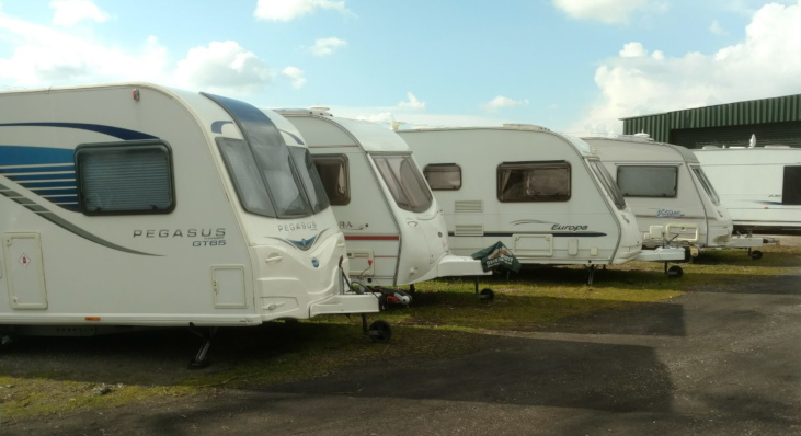 Caravan & motorhone storage at Norwood Farm, Mansfield